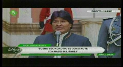 Evo denuncia que Chile tiene misiles en base militar instalada en frontera con Bolivia