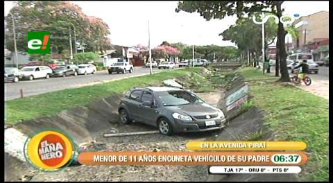 Adolescente de 13 años encuneta el vehículo de su padre