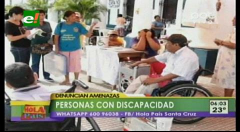 Discapacitados denuncian amenazas de gasitificación