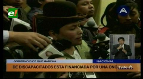 Ministra de Justicia dice que marcha de discapacitados es financiada por una ONG