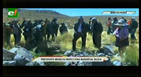 Presidente de Bolivia realiza inspección para 'mostrar al mundo' que el Silala no es un río