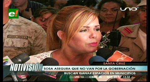 Angélica Sosa: No está en los planes de Santa Cruz Para Todos ir por la Gobernación