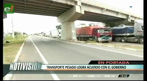 Titulares de TV: Gobierno y transporte pesado retoman el diálogo para encontrar una solución definitiva