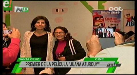 "Santa Cruz estrena el film nacional ""Juana Azurduy"""