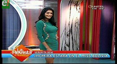 Jhomira Rocha quiere la corona de Miss Bolivia 2016