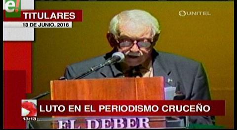 Titulares de TV: Falleció Pedro Rivero Mercado, el periodismo cruceño está de luto