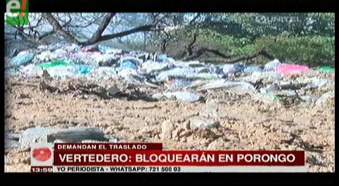 Pobladores de Porongo anuncian bloqueo este miércoles