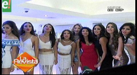 Miss Bolivia Universo 2016. Las candidatas se alistan para la Gala de la Belleza