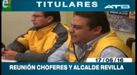 Titulares de TV: Autoridades municipales y transportistas se reúnen en La Paz
