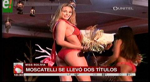 Antonella Moscatelli tiene la mejor figura del Miss Bolivia Universo 2016