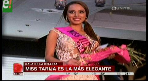 Miss Tarija la más elegante del Miss Bolivia Universo 2016