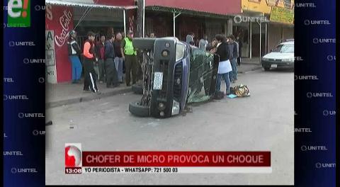 Micro provoca accidente en la zona de La Morita