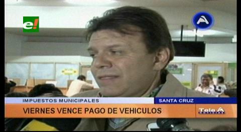 Santa Cruz: Plazo para pago de impuestos de vehículos con descuento