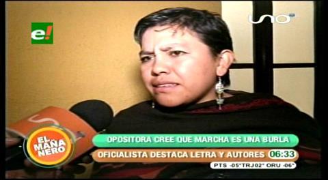 """Oposición dice que """"Marcha a Evo"""" es llunkerío"""