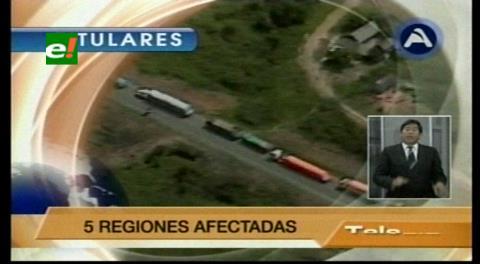 Titulares de TV: Gobierno se reúne con el Transporte pesado, tratan el Código Tributario