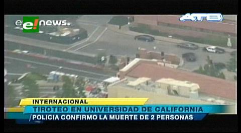 El tirador de la Universidad de California se suicida tras matar a una persona