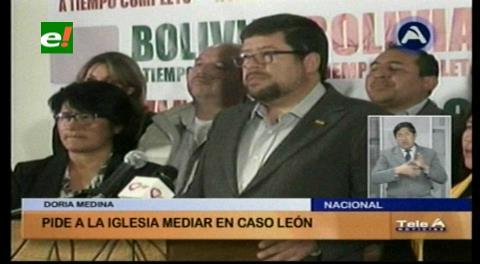 Doria Medina pide a la Iglesia Católica intervenir en el caso León