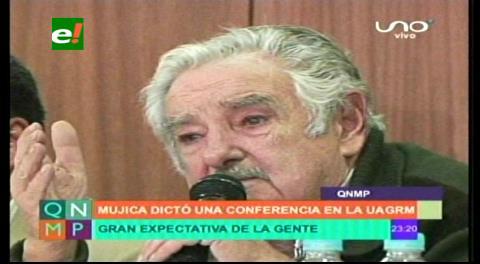 El discurso de Mujica enfervorizó a los universitarios de la Uagrm de Santa Cruz