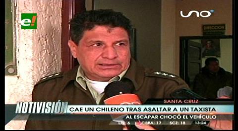 Detienen a chileno tras atracar a un taxista y robarle su vehículo
