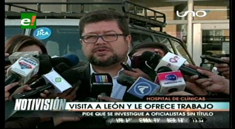 Doria Medina ofreció trabajo a León y éste aceptó, según el empresario