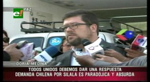 Silala: Doria Medina dice que demanda chilena es paradójica y absurda