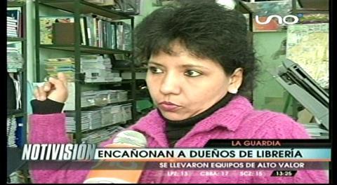 Delincuentes atracan una librería en el municipio de La Guardia