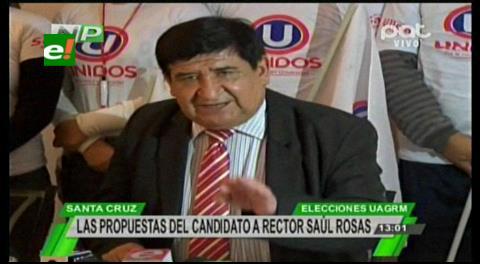 Saúl Rosas expone su plan para seguir con la modernidad en la Uagrm