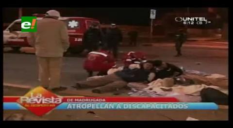 Vehículo conducido por joven ebria embiste a discapacitados y mata a dos de ellos en Cochabamba