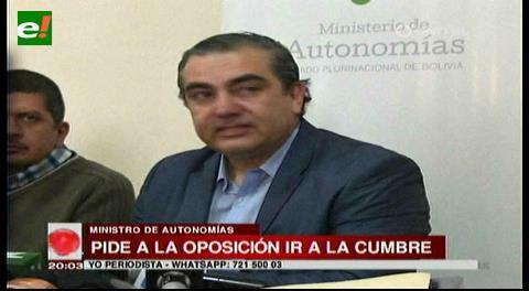 """Ministro Siles califica de """"irresponsable"""" la ausencia de la oposición en la Cumbre de Justicia"""