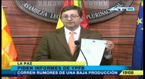 Senador Ortiz advierte posibles daños en dos campos gasíferos y pide información a YPFB