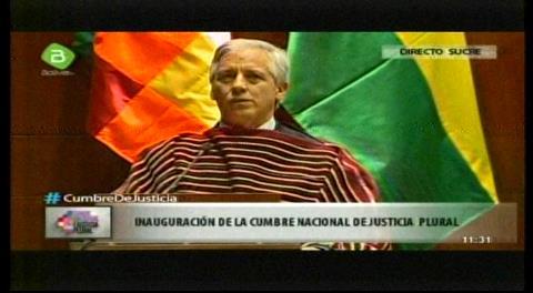 Inicia la Cumbre de Justicia en Sucre; Vice plantea 8 pilares para cambios en Bolivia