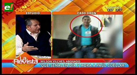 Defensa de Paúl Cuéllar pide nueva fecha para que declare por el caso dron