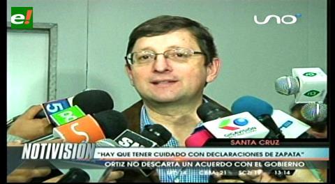 """Senador Ortiz: """"Hay que tener cuidado con las declaraciones de Zapata"""""""