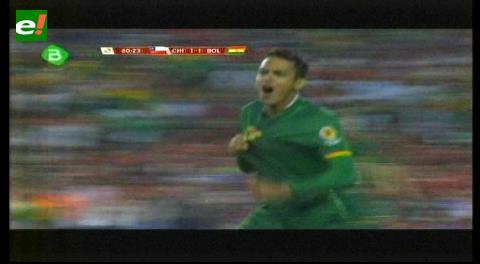 Con un golazo de Jhasmani Campos Bolivia le está empatando a Chile 1-1