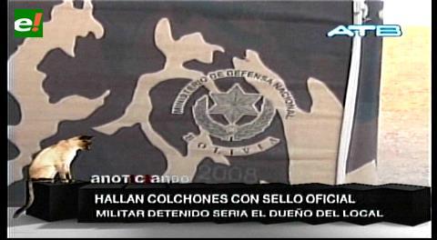 Quillacollo: Hallan colchones del Ministerio de Defensa en un lenocinio clandestino