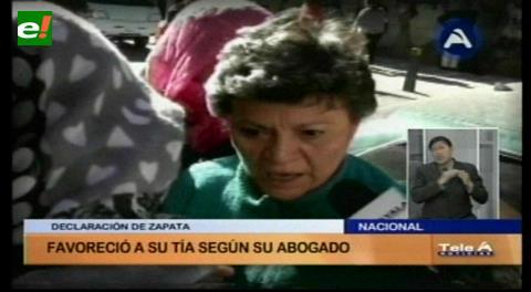Declaraciones de Zapata favorecen a Pilar Guzmán, según abogado