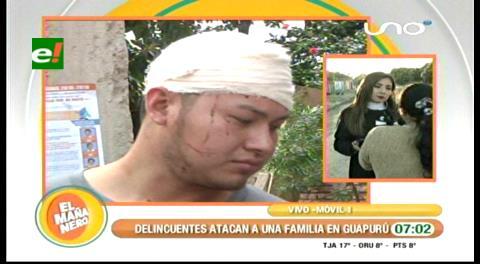 Pandilleros atacan a pedradas a una familia en su domicilio