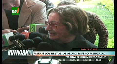 """Rosita Jordán: """"Se fue un hombre que se ganó el cariño del pueblo"""""""