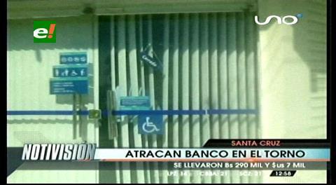 El Torno: Delincuentes roban un banco y se llevan 290 mil Bs