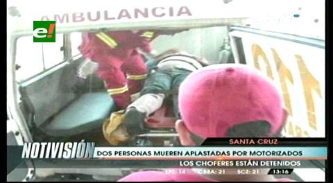 Motociclista atropella a una mujer en la doble vía a la Guardia