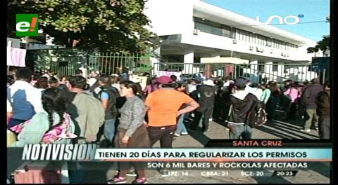Santa Cruz: Dueños de rockolas tienen 20 días para regularizar sus permisos