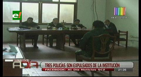 Tres policías de Interpol son dados de baja de la institución