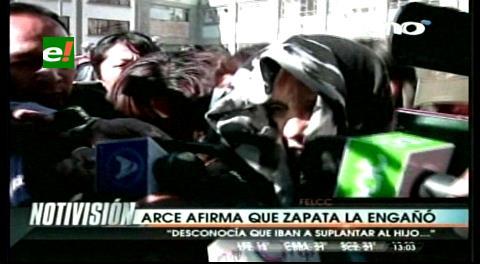 María del Carmen Arce afirma que Zapata la engañó