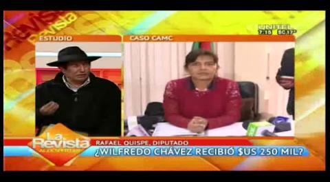 Diputado Quispe pide investigar a Wilfredo Chávez y su ex esposa por el Caso Zapata