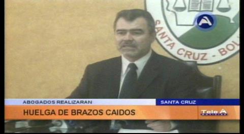 Abogados de Santa Cruz anuncian huelga de brazos caídos para el próximo lunes