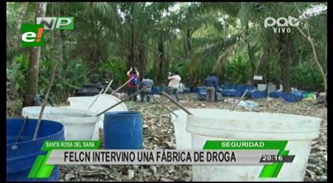 Desmantelan laboratorio de droga en Santa Rosa del Sara