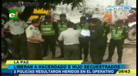 Rescatan a un hacendado y su hijo secuestrados en Cobija