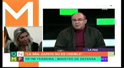Ministro de Defensa cree que acusación fiscal solo con versión de Zapata no es sostenible