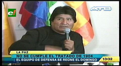 Morales dice que Chile incumple el Tratado de 1904
