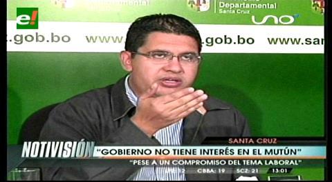 """Peña: """"El Gobierno no tiene interés en el desarrollo del Mutún"""""""